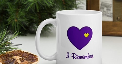 """Heart of Gold """"I Remember"""" Mug for those grieving the death of a loved one."""
